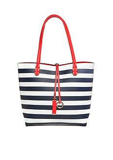 New Directions Stripe Reversible Medium Tote