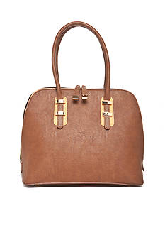 New Directions Three Compartment Satchel With Contrast Trim