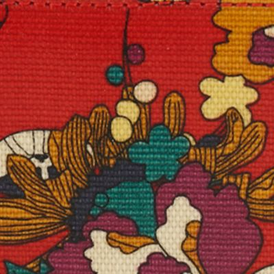 Sakroots: Crimson Flower Power Sakroots Artist Circle Large Wallet
