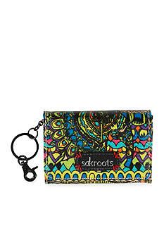 Sakroots Artist Circle Flap ID Keychain