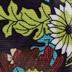 Small Wallets & Accessories: Violet Flower Power Sakroots Carryall Cosmetic Bag