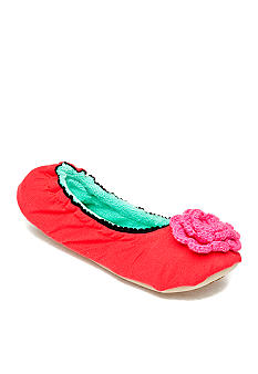 Kensie by Age Group Minty Crochet Ballet Slippers