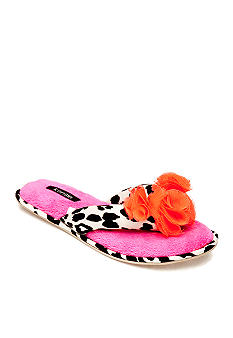 Kensie by Age Group Leopard Thong Coral Slippers