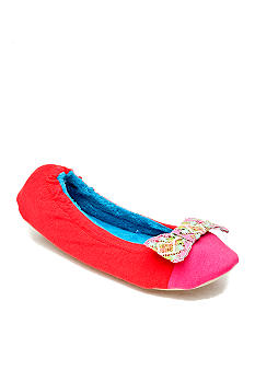 Kensie by Age Group Multi-Bow Ballet Coral Slippers