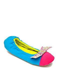 Kensie by Age Group Multi-Bow Ballet Blue Slippers
