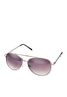 Betsey Johnson Metal Aviator Sunglasses