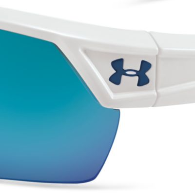 Guys Sunglasses: White Exterior Under Armour Igniter 2.0 Sunglasses