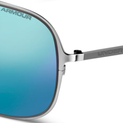 Mens Sunglasses: Silver Under Armour Alloy Sunglasses