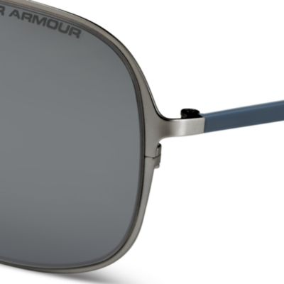 Mens Sunglasses: Satin Silver Under Armour Alloy Sunglasses