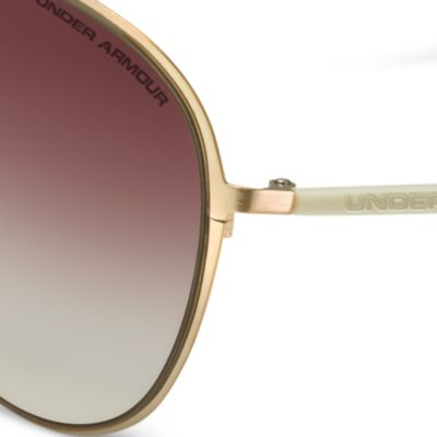 Guys Sunglasses: Shiny Gold Under Armour Alloy TD Sunglasses