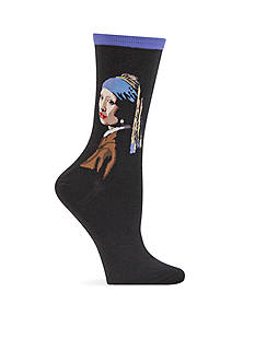 Hot Sox Girl With The Pearl Earring Crew Socks