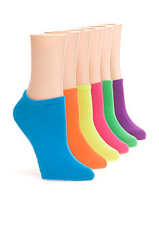 Hot Sox Solid Ped Sock 6 Pack
