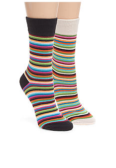 Hot Sox Thin Multi Stripe Trouser Sock