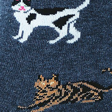 Hosiery: Denim Hot Sox Classic Cats Trouser Sock