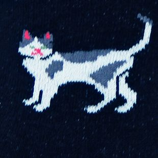 Hot Sox: Black Hot Sox Classic Cats Trouser Sock