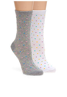 Hot Sox Pindot Hearts Trouser Socks
