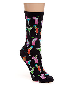 Hot Sox Tropical Drinks Trouser Sock