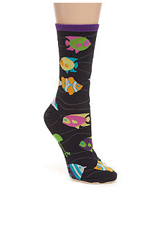 Hot Sox Tropical Fish Crew Sock