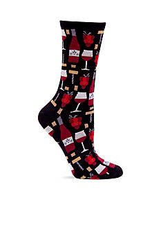Hot Sox Wine Crew Sock