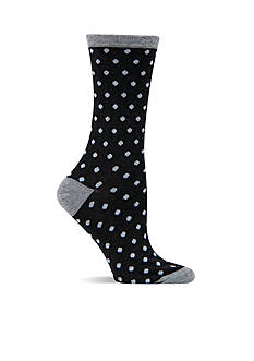 Hot Sox Small Polka Dot Crew Socks