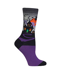Hot Sox Haunted House Socks - Single Pair