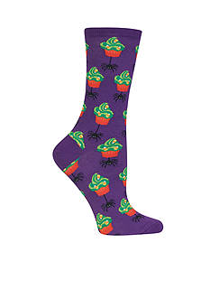 Hot Sox Halloween Cupcake and Spider Socks - Single Pair