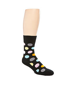 Happy Socks Cotton Big Dot Crew Socks - Single Pair