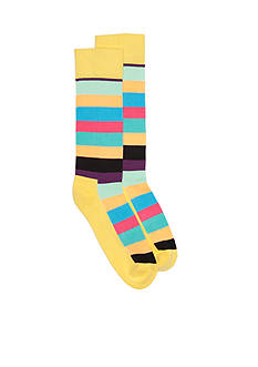Happy Socks Men's Stripe Terry Crew Socks - Single Pair