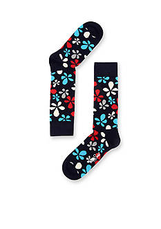 Happy Socks New Flower Crew Socks - Single Pair