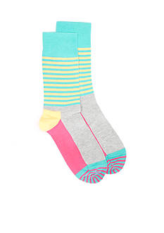 Happy Socks Half Stripe Socks - Single Pair