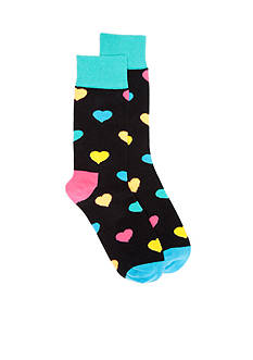 Happy Socks Hearts Crew Socks - Single Pair