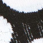 Womens Socks: Black/White Happy Socks Big Dot Low Cut Socks - Single Pair
