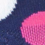 Womens Socks: Navy/Pink Happy Socks Big Dot Low Cut Socks - Single Pair