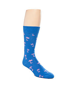 Happy Socks Cotton Palm Beach Crew Socks - Single Pair