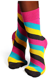 Happy Socks Polka Stripe Crew Sock