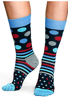 Happy Socks Dots & Stripe Crew Sock