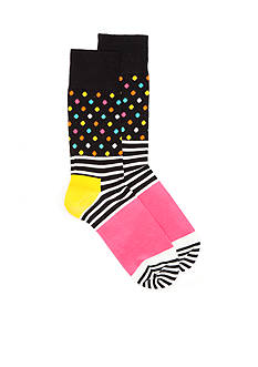 Happy Socks Stripes and Dots Crew Socks - Single Pair