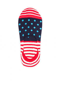 Happy Socks Stripe and Dot Crew Liners - Single Pair