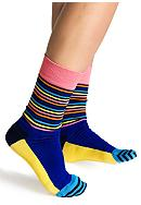 Happy Socks Strip Half Crew Sock