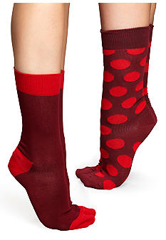 Happy Socks Two Pack Big Dot Crew Sock