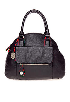 CYNTHIA Cynthia Rowley Leather Bowler Satchel