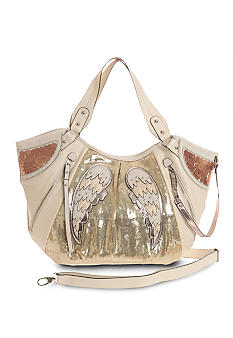 Gemini Rising Satchel with Wings and Sequins