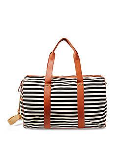 Madden Girl Canvas Stripe Duffle Bag
