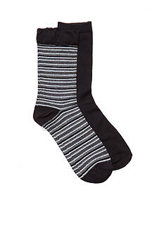New Directions Stripe Bamboo Crew Socks - 2 Pack