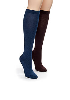 Kim Rogers Bamboo Knee High Two Pair Pack of Socks