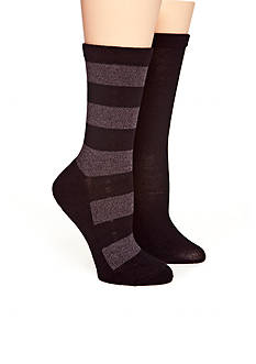 New Directions Rugby Stripe 2 Pack of Socks