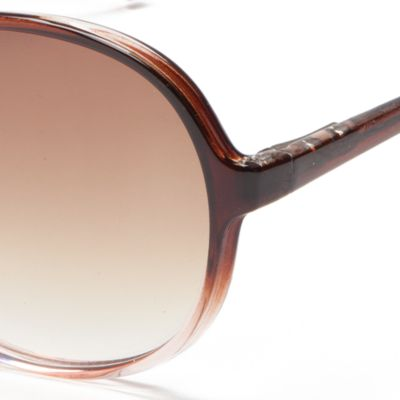 Womens Sunglasses: Brown/Pink New Directions Plastic Round Ombre Beach Sunglasses
