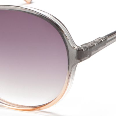 Womens Sunglasses: Pink/Gray New Directions Plastic Round Ombre Beach Sunglasses