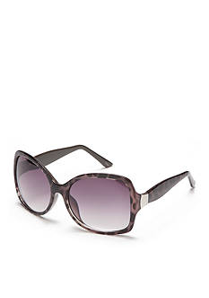 New Directions Plastic Gray and Black Tortoise Sunglasses