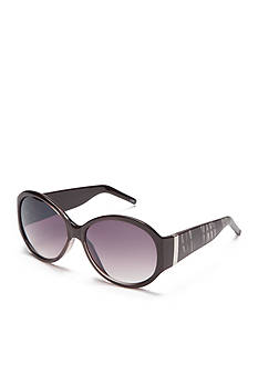 New Directions Plastic Oversized Round Sunglasses